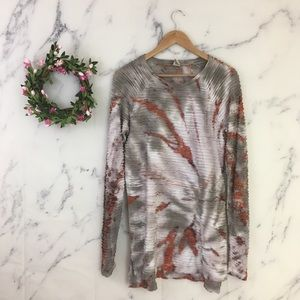 XCVI Tie Dye Long Sleeve Tunic Top